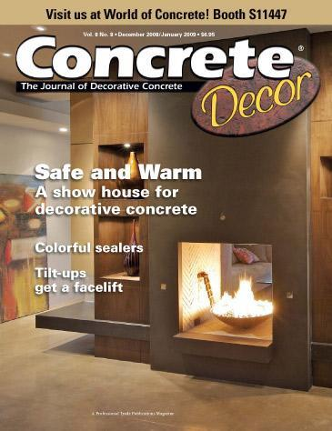 Vol. 8 Issue 8 - December 2008/January 2009 Back Issues Concrete Decor Store