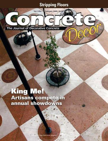 Vol. 9 Issue 1 - February 2009 Back Issues Concrete Decor Store
