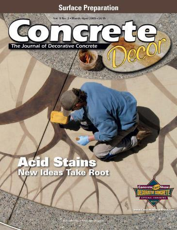Vol. 9 - No. 2 - March/April 2009 Back Issues Concrete Decor Store