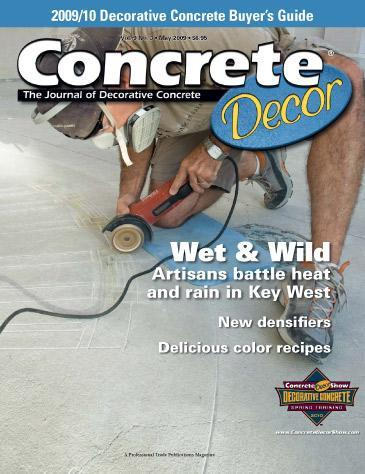 Vol. 9 Issue 3 - May 2009 Back Issues Concrete Decor Store