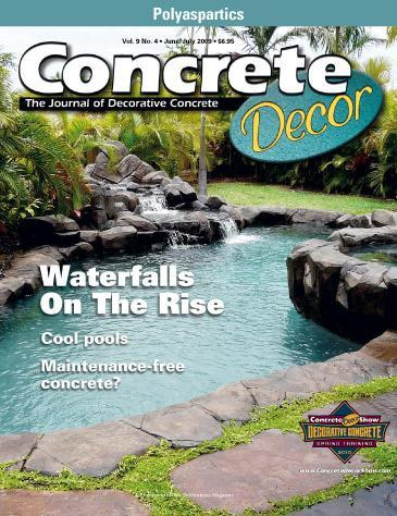 Vol. 9 Issue 4 - June/July 2009 Back Issues Concrete Decor Store