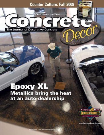 Vol. 9 Issue 5 - August 2009 Back Issues Concrete Decor Store