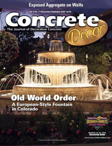 Vol. 9 Issue 7 - November/December 2009 Back Issues Concrete Decor Store