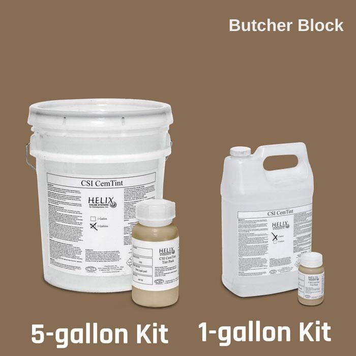 CemTint - Penetrating Water-Based Staining Compound Concrete Decor Store 1 Gallon (plus Tint Pack) Butcher Block