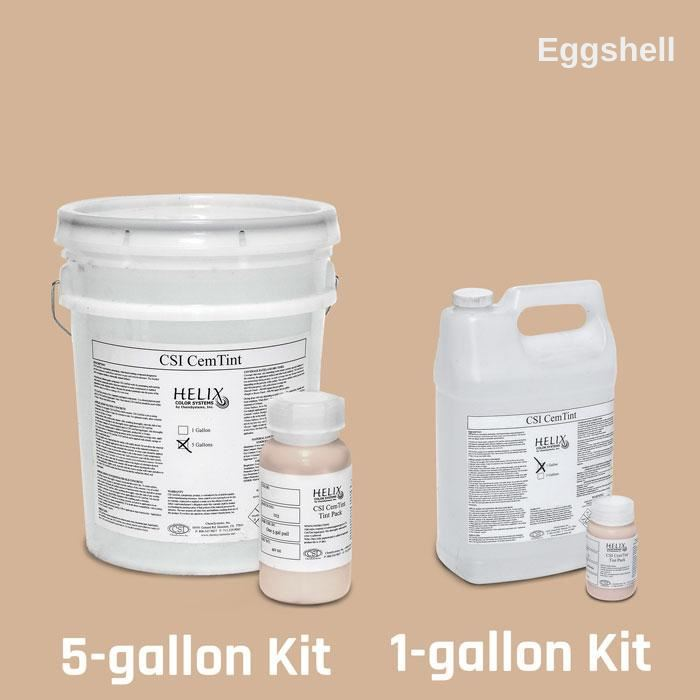CemTint - Penetrating Water-Based Staining Compound Concrete Decor Store 1 Gallon (plus Tint Pack) Eggshell