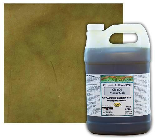 Concrete Resurrection Reactive Acid Concrete Stain Mossy Oak (Interior Color Only) Engrave-A-Crete