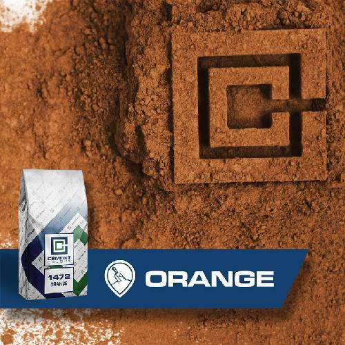 1472 - Orange – Raw Pigment Cement Colors