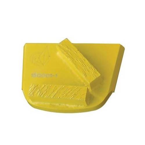 X-Series - Quick Change - Trapezoid Pad with Two Rectangular Segment Tooling for Concrete Concrete Polishing HQ 6 Yellow/Soft