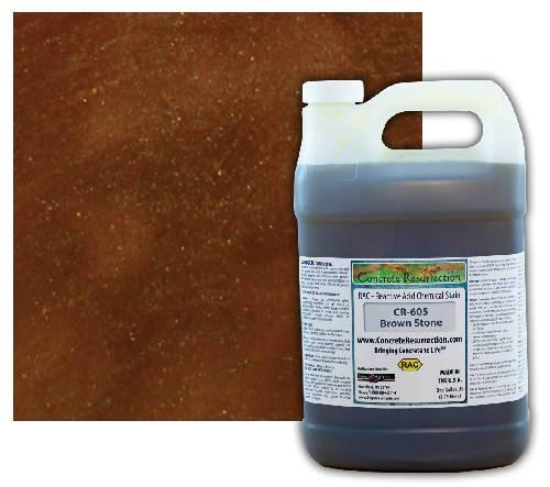 Concrete Resurrection Reactive Acid Concrete Stain Brown Stone (Brown) Engrave-A-Crete