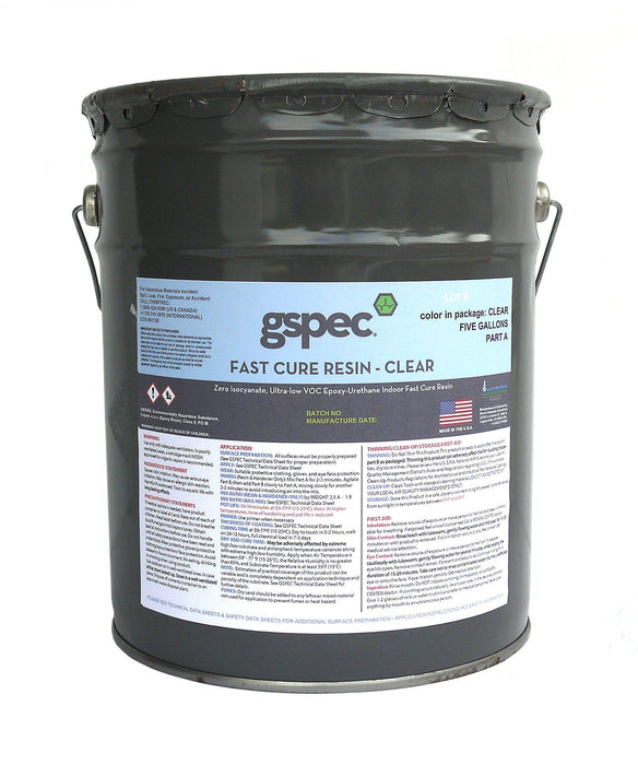 GSPEC Fast Cure Resin Concrete Decor Store Clear