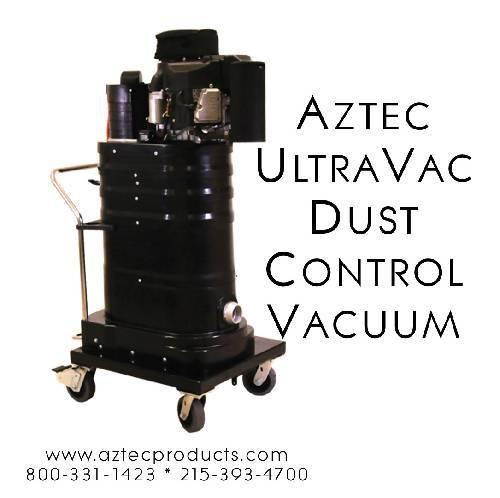 Aztec UltraVac - Propane Dust Control Vacuum - Aztec Products - Concrete Decor Marketplace