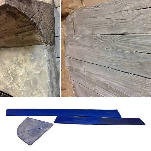 Wood Plank or Fireplace Decorative Concrete Stamp Set Stone Edge Surfaces