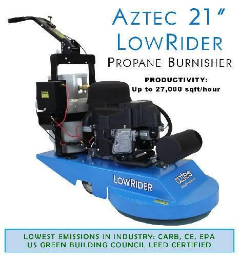 "Aztec 21"" LowRider Propane Burnisher  - Aztec Products - Concrete Decor Marketplace"