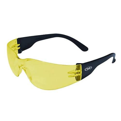 Pro-Rider Safety Glasses (Pack of 6) Global Vision Eyewear Corp. Yellow Tint