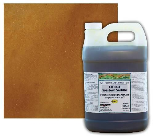 Concrete Resurrection Reactive Acid Concrete Stain Western Saddle (Brown w/Copper Undertones) Engrave-A-Crete