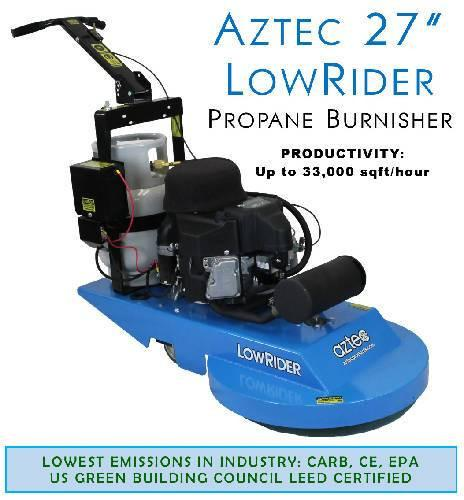 Aztec 27 LowRider Propane Burnisher - Aztec Products - Concrete Decor Marketplace