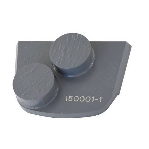 X-Series - Quick Change - Trapezoid Double Button Tooling for Concrete Concrete Polishing HQ 6 Gray/Medium