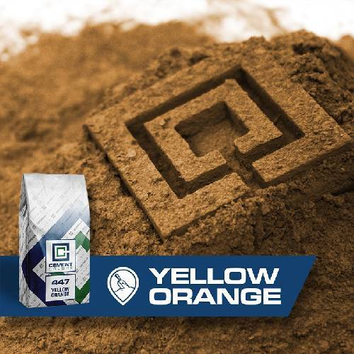 447 - Yellow/Orange – Raw Pigment Cement Colors