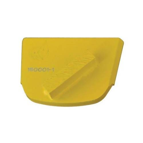 X-Series - Quick Change - Trapezoid Pad with One Rectangular Segment Tooling for Concrete Concrete Polishing HQ 6 Yellow/Soft