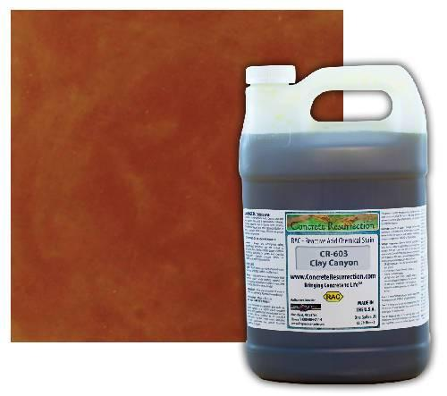 Concrete Resurrection Reactive Acid Concrete Stain Clay Canyon (Brown w/Red and Copper Undertones) Engrave-A-Crete