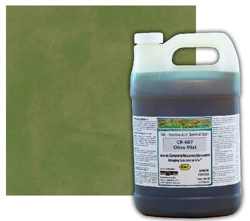 Concrete Resurrection Reactive Acid Concrete Stain Olive Mist (Interior Color Only)