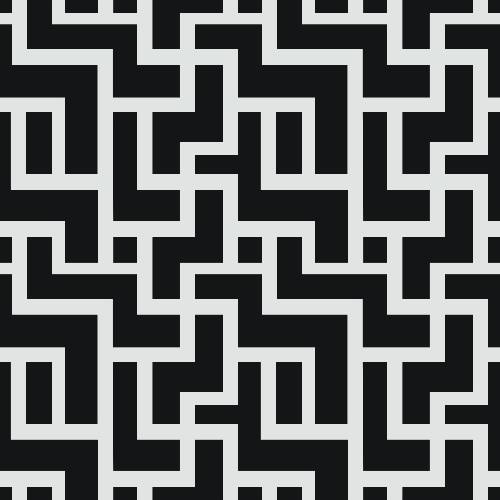 Labyrinth Brick Pattern - Adhesive-Backed Stencil supplies FloorMaps Inc. Negative