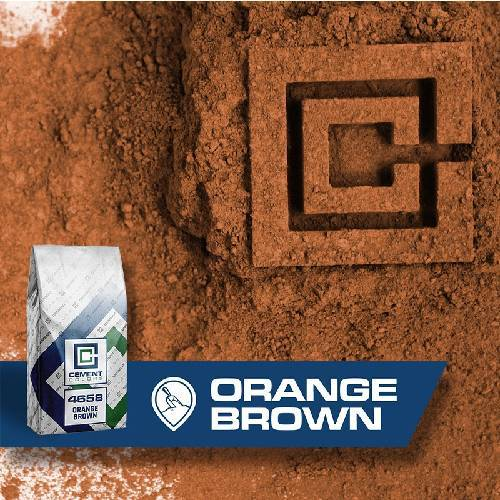4658 - Orange/Brown – Raw Pigment Cement Colors