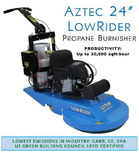 Aztec 24 LowRider Propane Burnisher - Aztec Products - Concrete Decor Marketplace