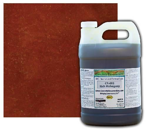 Concrete Resurrection Reactive Acid Concrete Stain Rich Mahogany (Dark Brown with Red Undertones) Engrave-A-Crete