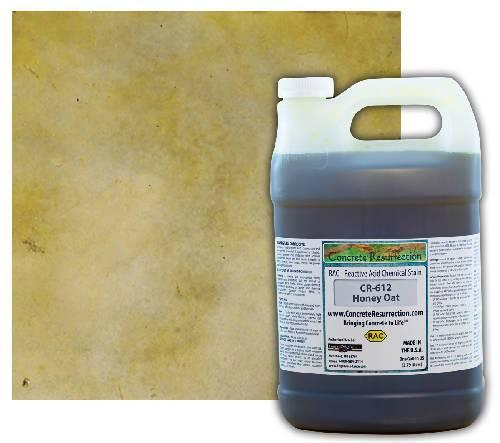 Concrete Resurrection Reactive Acid Concrete Stain Honey Oat (Light Brown w/Yellow Undertones) Engrave-A-Crete