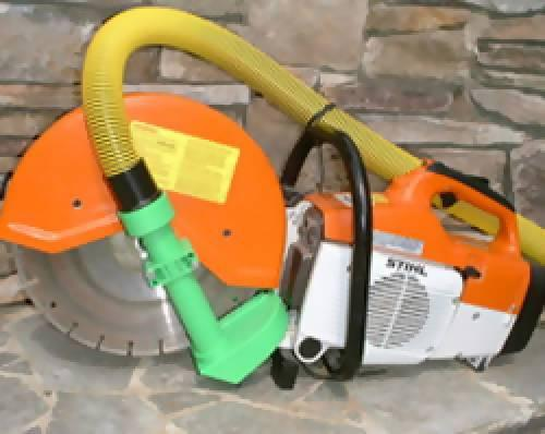 Saw Muzzle for Gas-Powered Cut-Off Saws - Dust Collection Products - Concrete Decor Marketplace