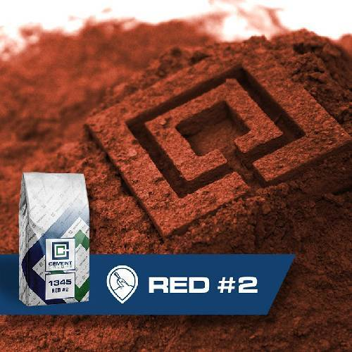 1345 - Red #2 – Raw Pigment Cement Colors