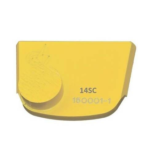 X-Series - Quick Change - Trapezoid One Button Tooling for Concrete Concrete Polishing HQ 6 Yellow/Soft
