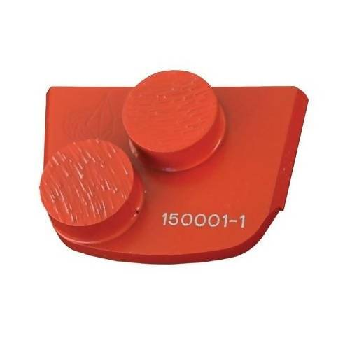 X-Series - Quick Change - Trapezoid Double Button Tooling for Concrete Concrete Polishing HQ 6 Red/Hard