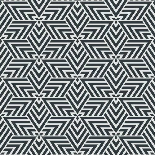 Geometric Interlocking Triangle Pattern - Adhesive-Backed Stencil supplies FloorMaps Inc. Negative