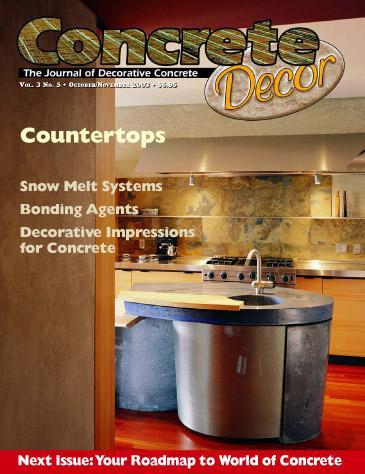 Vol. 3 Issue 5 - October/November 2003 - Concrete Decor Marketplace - Concrete Decor Marketplace