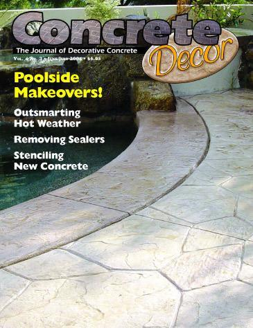 Vol. 4 Issue 3 - June/July 2004 Back Issues Concrete Decor Marketplace