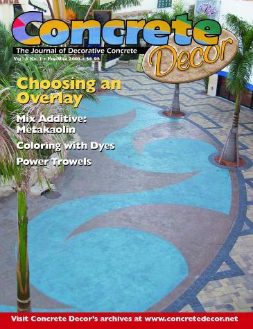 Vol. 5 Issue 1 - February/March 2005 - Concrete Decor Marketplace - Concrete Decor Marketplace