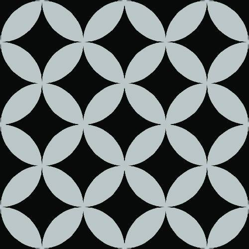 Geometric Diamond Petal Pattern - Adhesive-Backed Stencil supplies FloorMaps Inc. Negative
