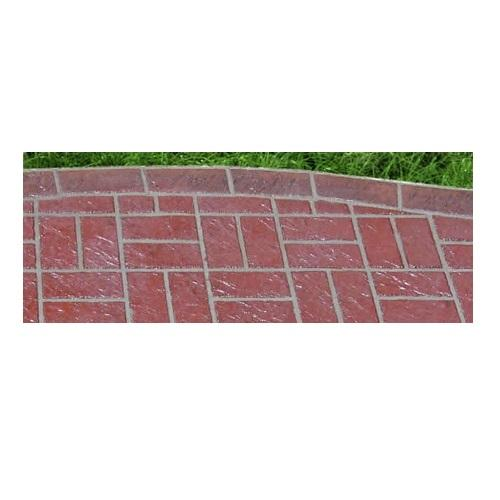 Edge Brick Header - Concrete Stencil Decorative Concrete Impressions