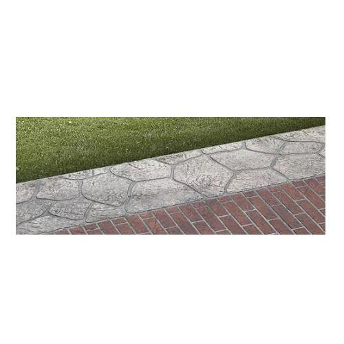 "18"" Flagstone Border - Concrete Stencil Decorative Concrete Impressions"