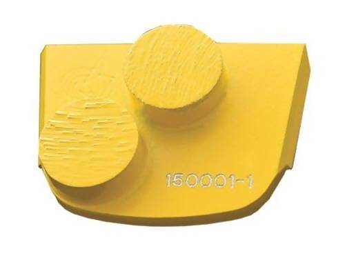 X-Series - Quick Change - Trapezoid Double Button Tooling for Concrete Concrete Polishing HQ 6 Yellow/Soft