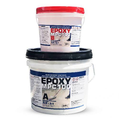 MPC-100 Clear Epoxy Resin Coating for Floors & Counter Tops, 100% Solids, Self Leveling - 3 Gallon Kit Latux Diamond Blade Distributor