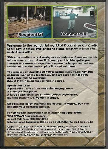 Stamped Overlay Concrete Course - Vol. 1 Renew-Crete Systems