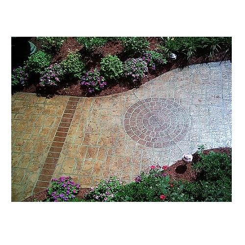 Medium Brick Rosette - Concrete Stencil Decorative Concrete Impressions
