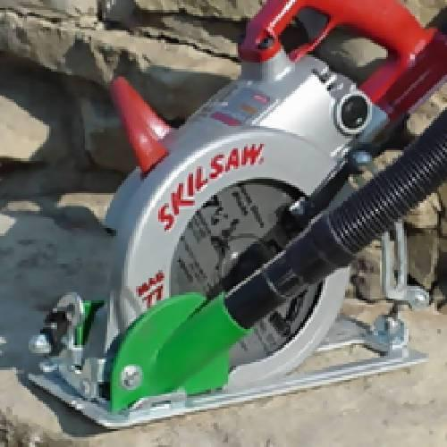 Saw Muzzle for worm-drive saws (Skil, Makita, Milwaukee, DeWalt) - Dust Collection Products - Concrete Decor Marketplace