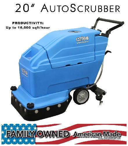 ProScrub 20 Autoscrubber with AGM BATTERY - Aztec Products - Concrete Decor Marketplace