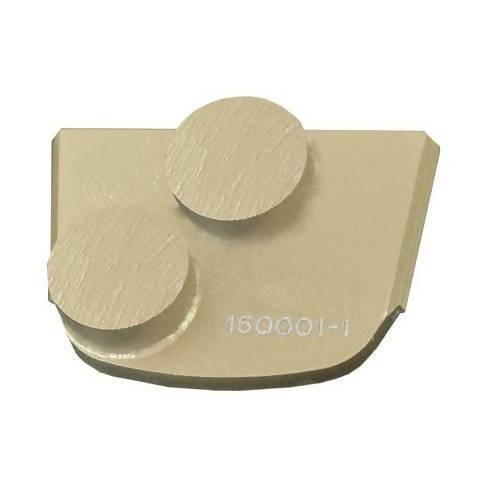 X-Series - Quick Change - Trapezoid Double Button Tooling for Concrete Concrete Polishing HQ 6 Gold/Extra Hard