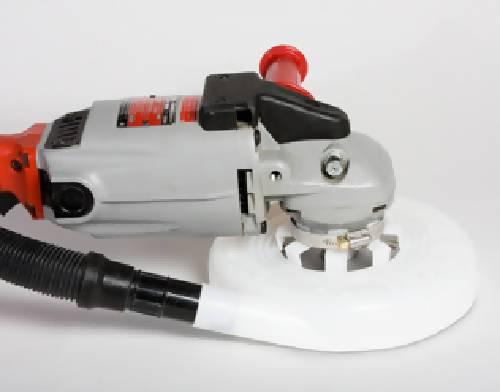 "Dust Muzzle Ultra for 7"" and 8"" Grinders - Dust Collection Products - Concrete Decor Marketplace"