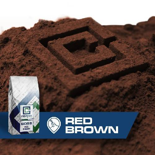 6058 - Red/Brown – Raw Pigment Cement Colors